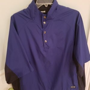 Ping collection short sleeve golf windbreaker M